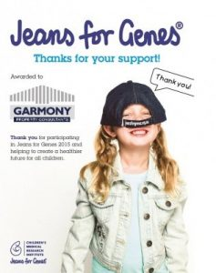 Garmony Property Consultants - Proud Supporters of Jeans for Genes Day 2015